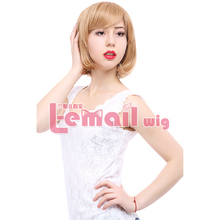 Fashion 10 Colors Heat Resistant Harajuku Women Synthetic Pink Green White Red Purple Blonde Short BOB Cosplay Wig