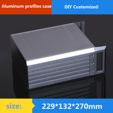 Buy AMP case 229*132*270mm 3U aluminum chassis Instrumentation aluminum chassis amplifier aluminum shell / case/ enclosure / DIY box for $85.59 in AliExpress store