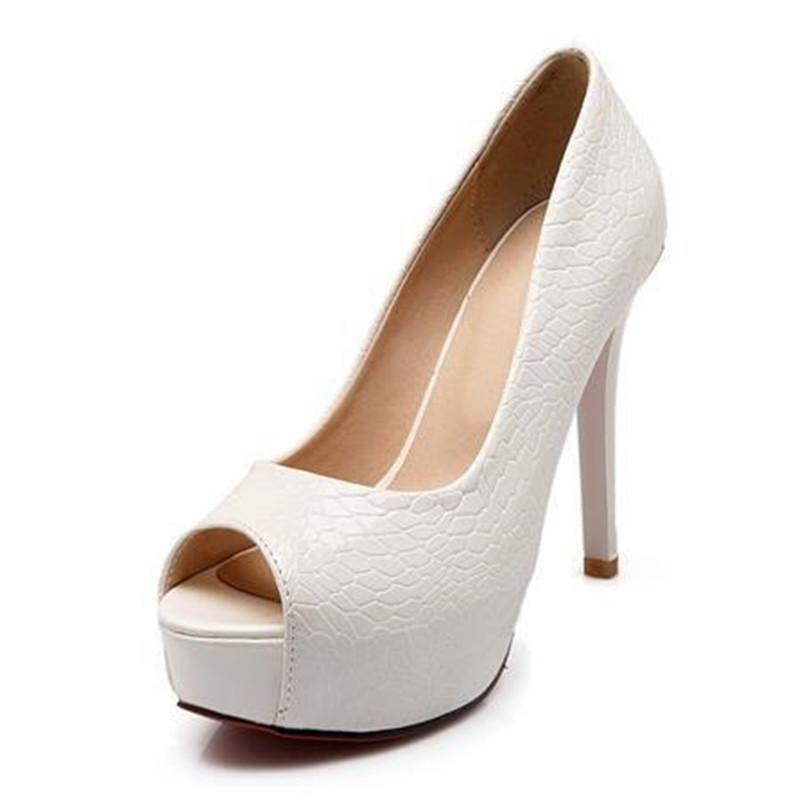 2016 new fashion peep toe platform shoes woman high heels women pumps white blue club wedding shoes(China (Mainland))
