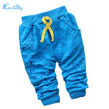 New 2016 Spring Clothing Baby Boy Pants Cotton Cartoon Fish Pants Fashion Baby All-Match Harem Pants For Boys Baby 7-24M