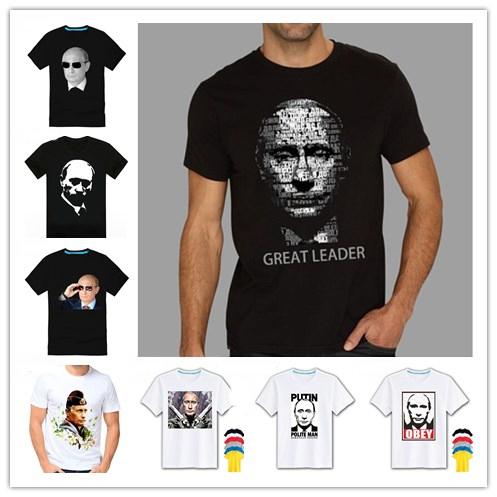 2015 NEW HOT Brand Cotton T-shirt man and women, VLADIMIR PUTIN, the Great God Short sleeve t shirt S-XXXL Free shipping(China (Mainland))