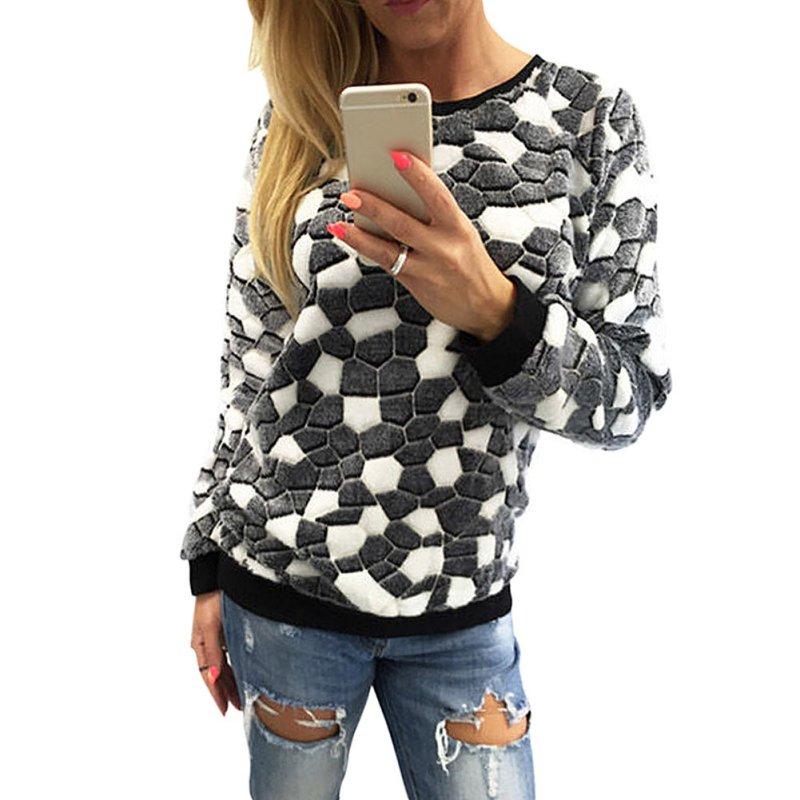 Women Tops Long Sleeve Knitwear Jumper Pullover Tops Sweater Coats Hoodie Spring