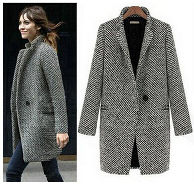free shipping elegant women winter wool coats plus size grey warm cotton trench laides velvet thick jacket long outdoor overcoatОдежда и ак�е��уары<br><br><br>Aliexpress