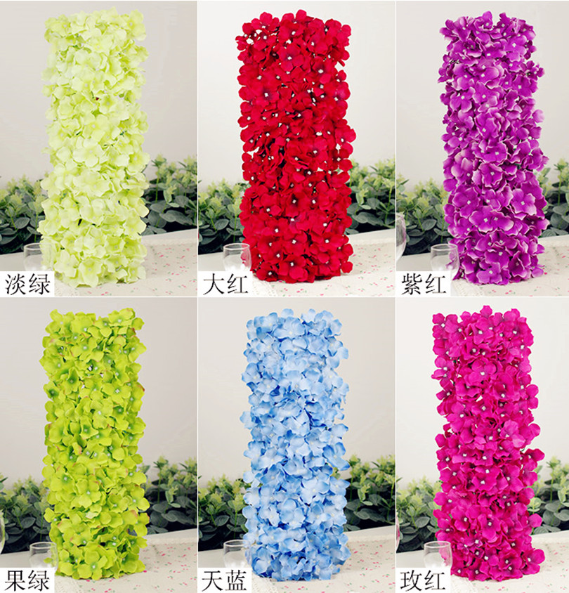Artificial Hydragea Flower Square Shape Base Fake Hydrangea Floral Hydrangea Row Arc for Wedding Party Background Decorations(China (Mainland))