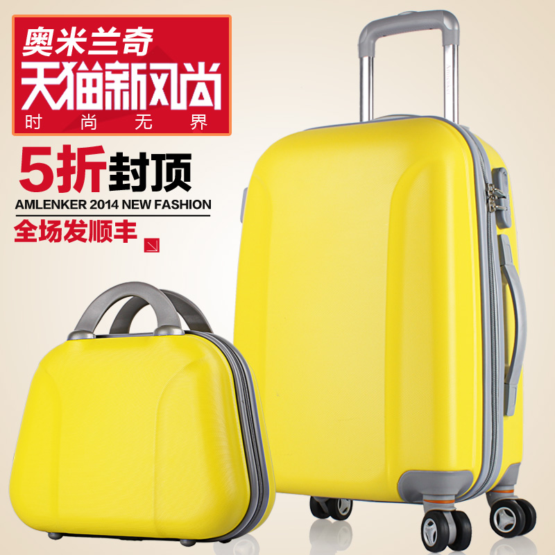 Picture box luggage female universal wheels trolley travel bag 20 male 24 26