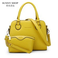 Buy SUNNY SHOP 2 Bag/set European American Style Small Women Shoulder Bags High Leather Women Handbag Purse Girls for $27.40 in AliExpress store