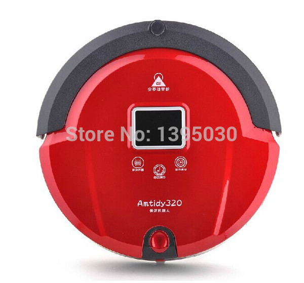1pcs New Automatic Intelligent Robot Vacuum Cleaner Self Charging, Remote Control,LCD Touch Screen(China (Mainland))