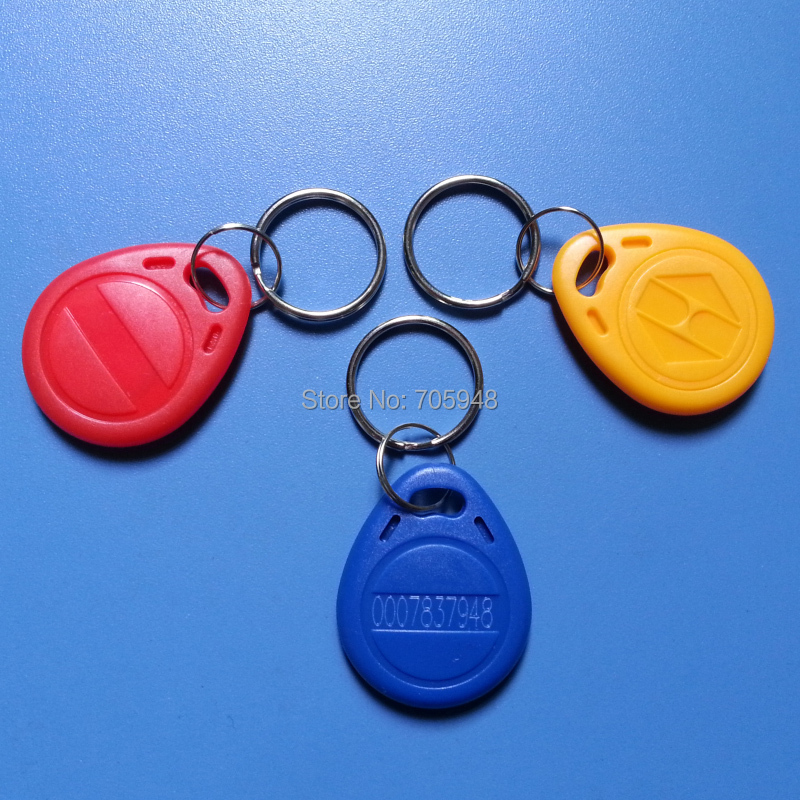 LOT 100PCS 125Khz TK4100 EM4100 EM4102 Proximity Key Ring Smart card read RFID ID Card Token Tags Keyfobs for Access Control(China (Mainland))