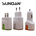 3 1A Dual Port USB Car Charger Mini Universal Fast Smart Car Charger For Apple iPhone
