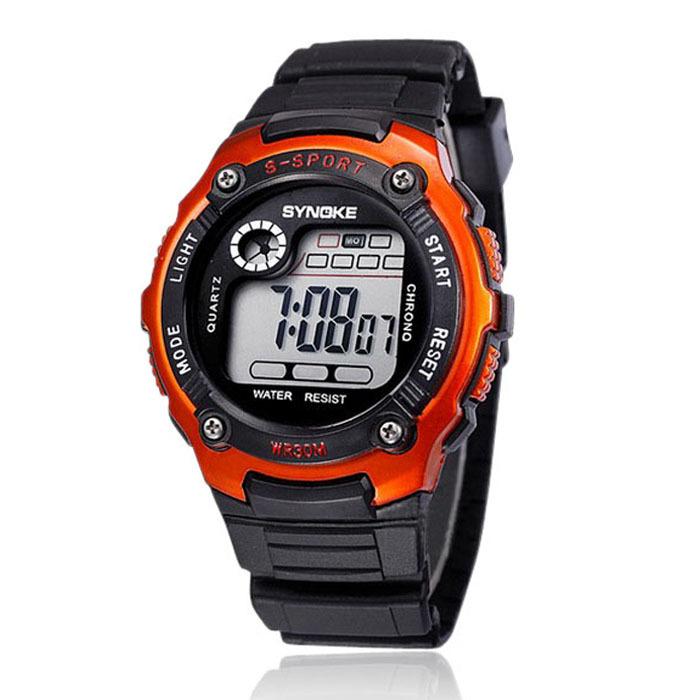 2015 newest Sports Watch Men Boy Digital LED Relojes Quartz Alarm Date Multifaction Wristwatch Student Casual Clocks Orange(China (Mainland))