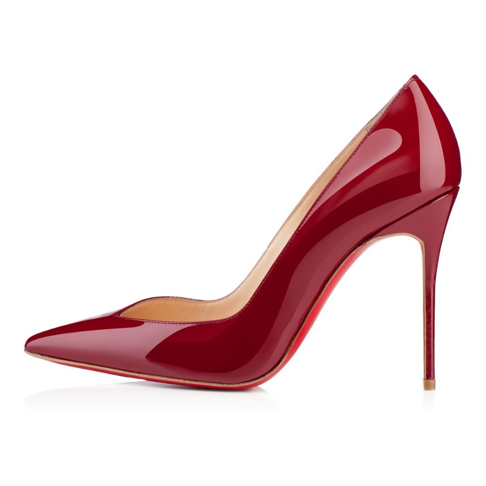 Deep Red High Heels - Is Heel