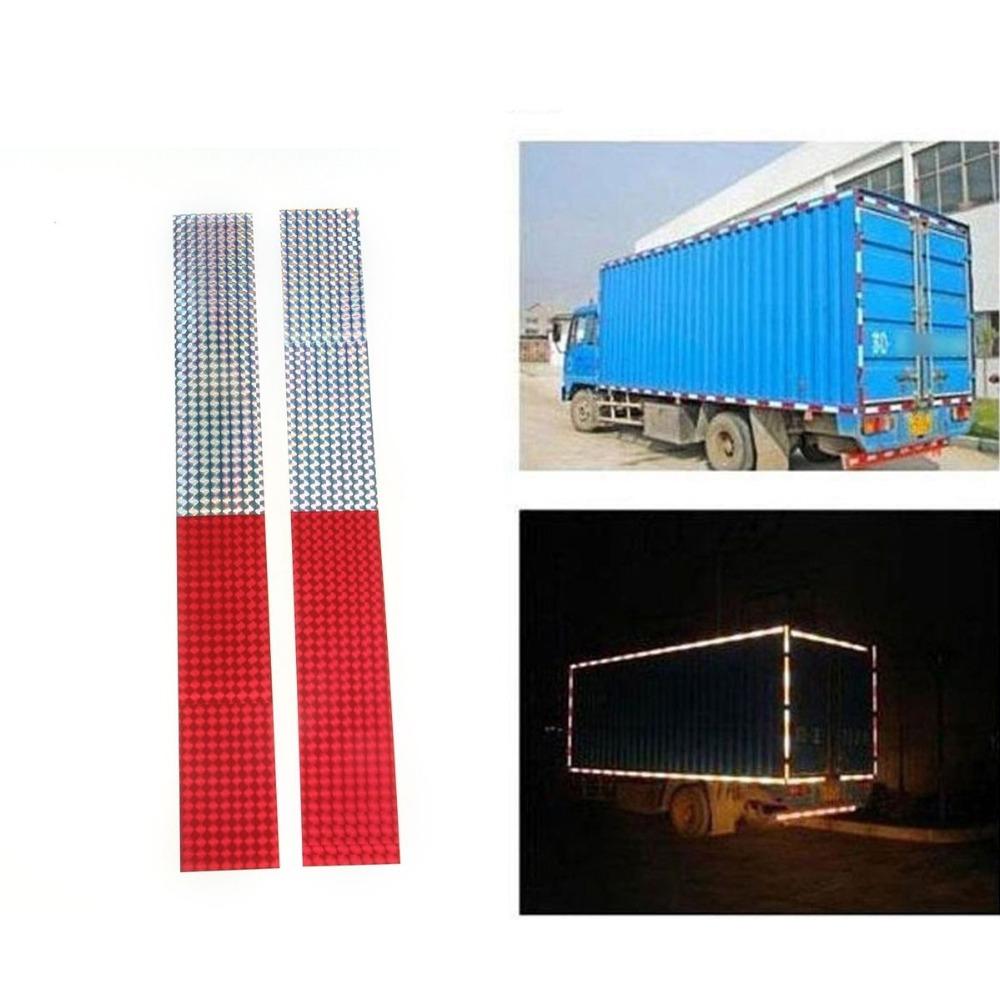 Бесплатная доставка 2 шт. 40 см предупреждение эффектный лента износостойких отражатель автомобиля грузовик красный серебристый