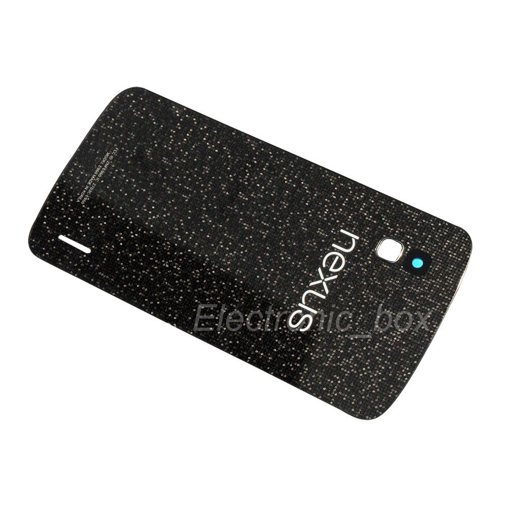 Battery Back Door Glass Cover Lens Repair Parts For LG Google Nexus 4 E960 New Free Shipping(China (Mainland))
