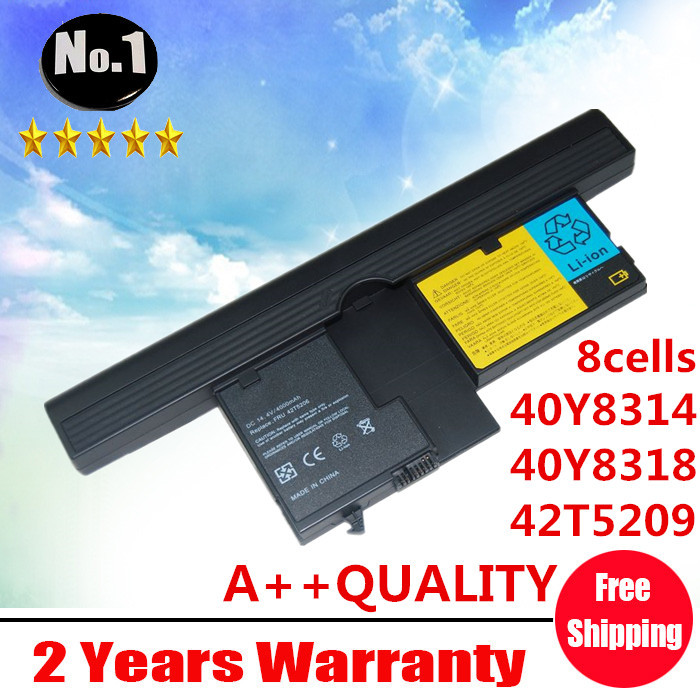 Wholesale New 8cells laptop battery FOR ThinkPad X61 X61 Tablet PC Series 40Y8314 40Y8318 42T5209 42T5204 free shipping(China (Mainland))