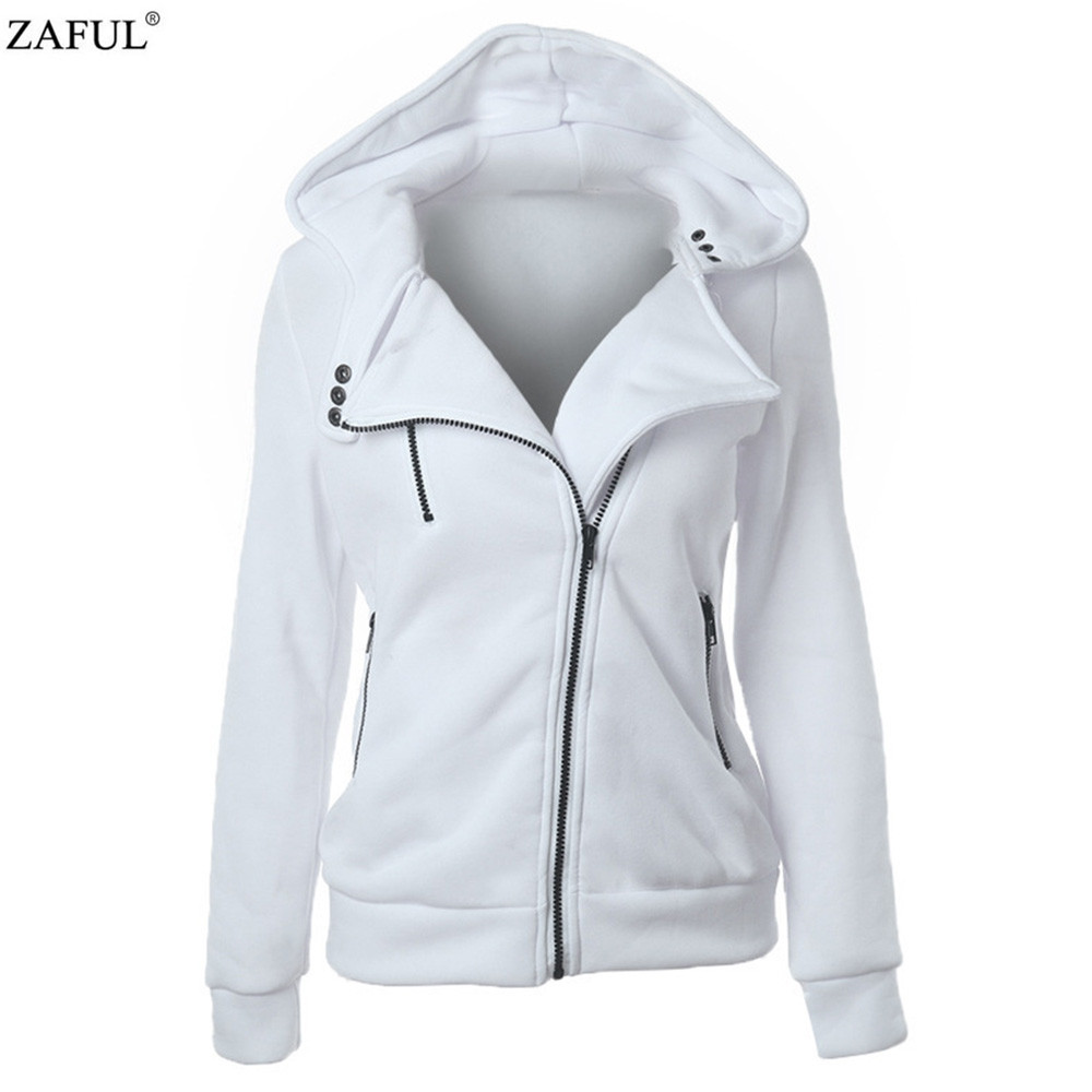 ZAFUL 4 color 2016 New Autumn&winter Women Cotton Hoodies V-Neck Long Sleeve Hoodies With Cat Warm cardigans Female Sweatshirts (6)