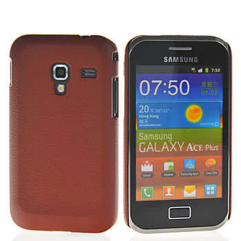 Free shipping Litchi skin Hard rubber case cover for Samsung Galaxy ace plus S7500 mobile phone case For Samsung cover