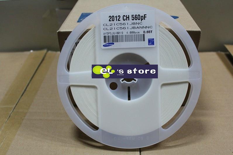 Электронные компоненты Ceramic capacitor 0805 560PF 561J 50V + /5% SMD cl21c561Jbannnc RoHS 4000PCS 0805 560PF 561J COG 50V конденсатор ceramic capacitor assorted kit smd 0805 0 5pf 10uf 92values 50 4600pcs smd 0805 0 5pf 10uf