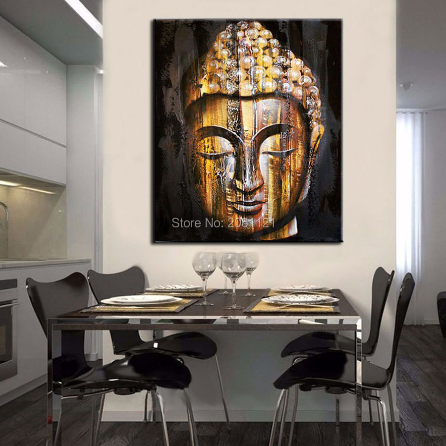 Tear Of Buddha Painting Religion Wall Canvas Art Bodhisattva Indian God Asian Buddhism Picture For