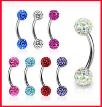 Buy Eyebrow Piercing Jewelry E10 Wholesale 100pcs/lot Mix10 Color Shamballa Fake Eyebrow Ring Eyebrow Bar Body Jewelry ) for $70.03 in AliExpress store