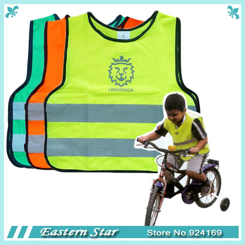 Free shipping 3pcs/lot / child / pupil / student cute high visibility reflective safety traffic vest(China (Mainland))