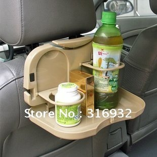 U4 New arrival! Car Seat Multi Tray , car Food table meal Desk Stand / Drink Cup Holder  1pc, 2 colors for your choice