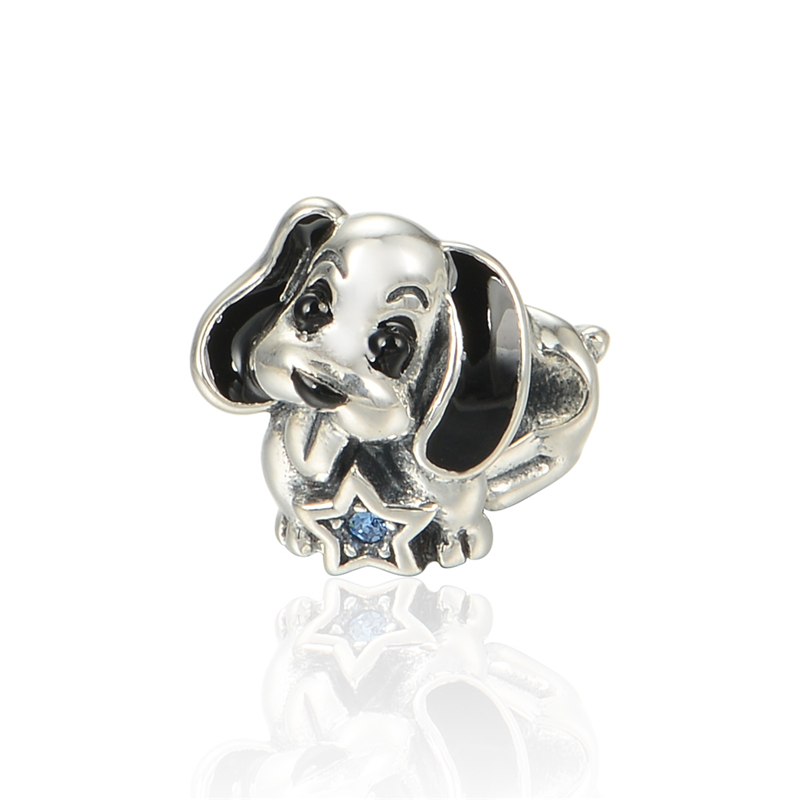 buy silver 925 jewelry enamel dog charms