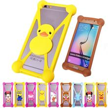 Cute Cartoon Silicone Universal Cell Phone Holster Cases Fundas THL W3 W3+ W8 W8+ W8S Case Minions Silicon Coque Cover - Different enjoyment store