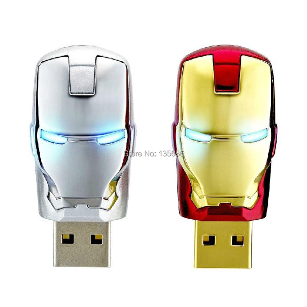 100% Full Capacity Iron Man USB Flash Drive Diamond Crystal Pen Drive 4GB 8GB 16GB 32GB 64GB USB 2.0 Memory Disk USB Stick(China (Mainland))