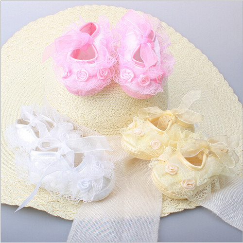 2015 New lace baby girl shoes flowers first walker baby shoes toddlers girls princess shoes
