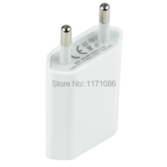 2014 Hot Sale 5V 1A EU Travel Home USB Wall Charger for iPhone 4 5 5S 6 plus Samsung Galaxy S2 S3 S4 HTC Cell Phones Adapter(China (Mainland))