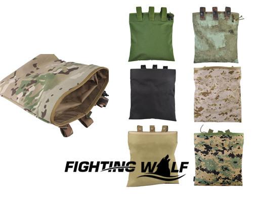 7 Colors Durable 1000D Tactical Magazine DUMP Pouch Lightweight Utility Military Magazine Combat Dump Pouch for Outdoor War Game