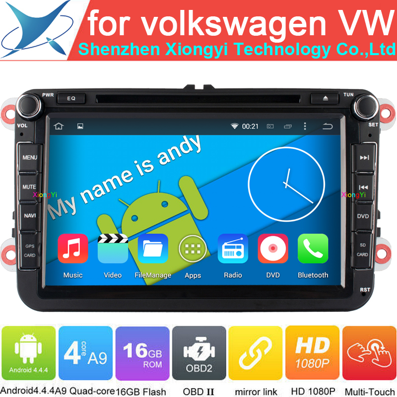 "1204HD 8"" Android 4.4 Quad Core Car DVD GPS Navigation for Volkswagen Skoda Superb Yeti Patrick Fabia Seat Leon Golf EOS Passat(China (Mainland))"