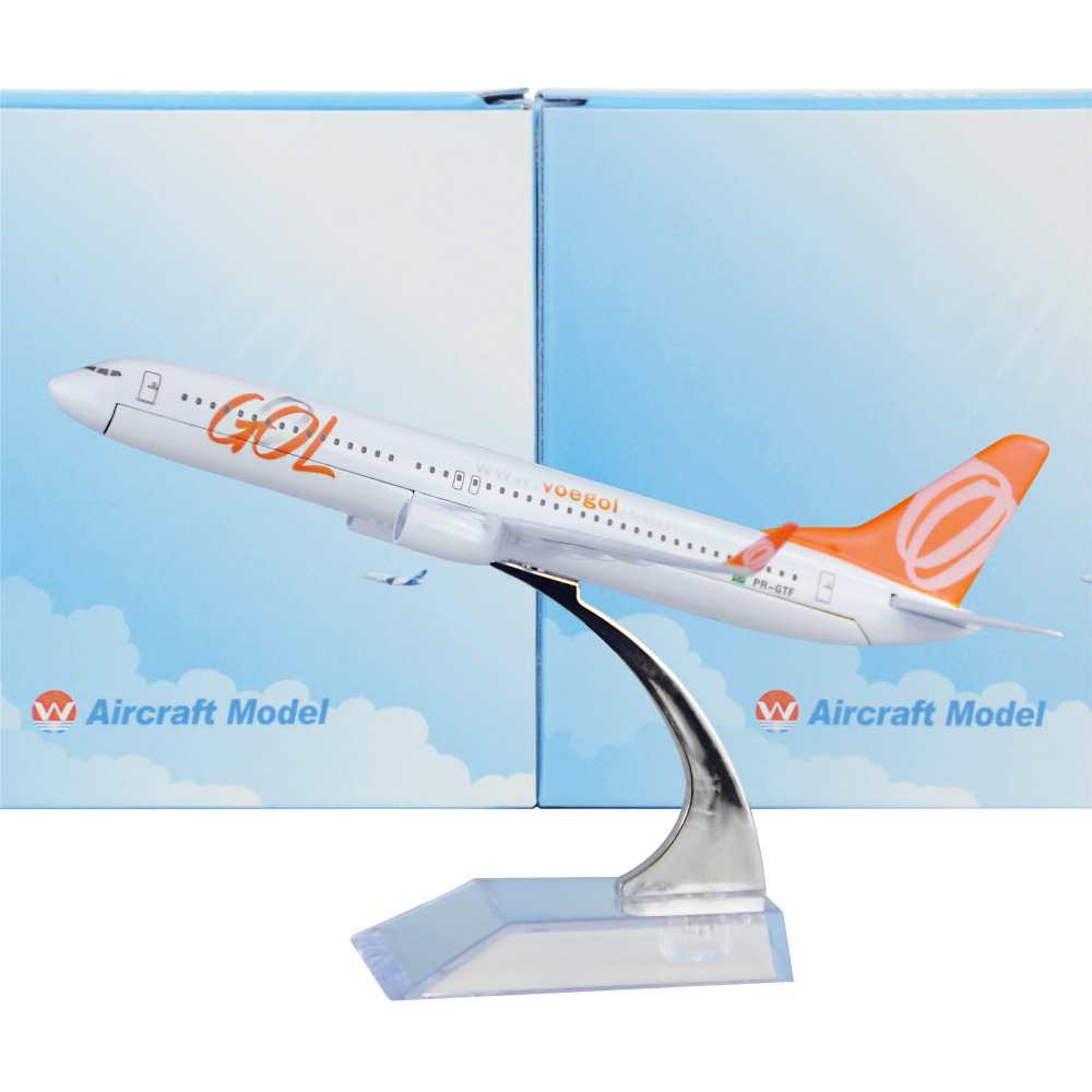 Brazil GOL Airlines Boeing 737 16cm decoration airplane models child Birthday gift plane models Free Shipping free Shipping(China (Mainland))