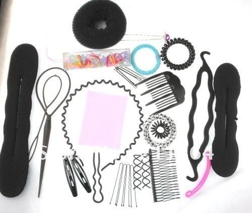 TS050  Free Shipping Hair DIY salon tools set hairpins hair combs barrettes hair sticks accessories