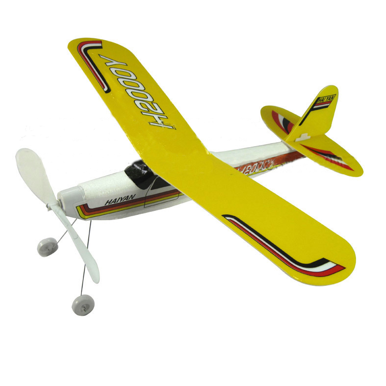 Hot modelism assembled rubber band elastic airplane model toy Kids birthday gift Foam fuselage rubber band elastic 3d(China (Mainland))