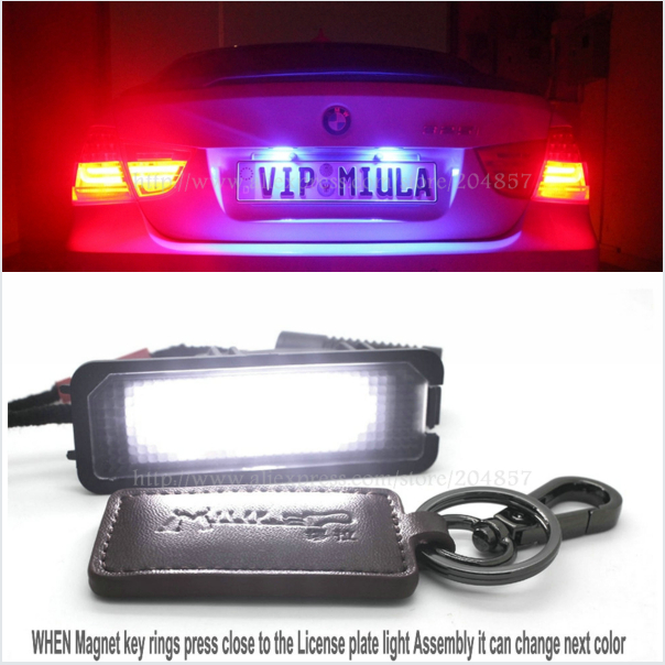 Free Shipping VW Volkswagen Special Colorful License plate light Assembly For VW Volkswagen Scirocco Superb<br>