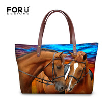 Buy Large Capacity Women Handbag Fashion Brand Tote Bag Animal Zoo Crazy Horse Printed Female Shoulder Bags College Student HandBag for $22.79 in AliExpress store