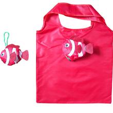 Mic Tropical Fish Foldable Eco Reusable Shopping Bags herbruikbare boodschappentas bood schappentas opvouwbare tasjes38cm x58cm(China (Mainland))