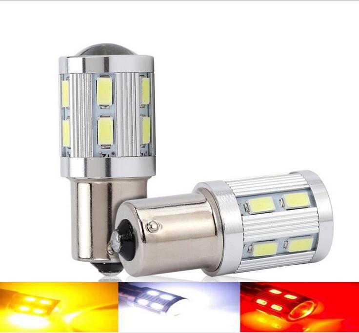 2pcs 1156 BA15S 12 led 5630 smd cree chip Car Tail Bulb Brake Lights auto Reverse Lamp Daytime Running Light red white yellow(China (Mainland))