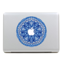 Removable fashion colorful DIY blue flower figure tablet sticker and laptop computer sticker for macbook Pro 13,Air 13,260x270mm