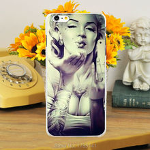 1pcs Marilyn Monroe hard white Skin Case for iphone6 (4.7inch) and iphone6 plus(5.5inch) Retail