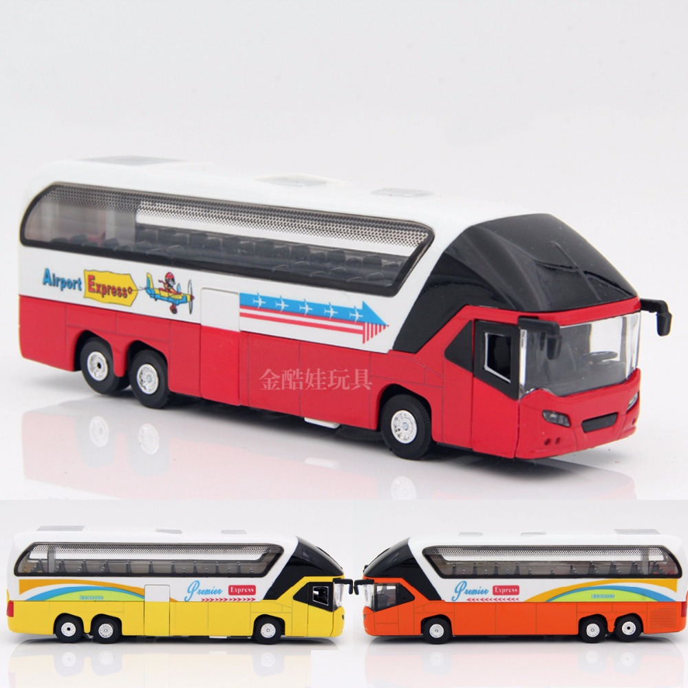 Hot Classic Toys Alloy Car Luxury Bus Big Bus Model With Voice Light Human Voice To Speak PULL BACK Brinquedos Toys For Children(China (Mainland))