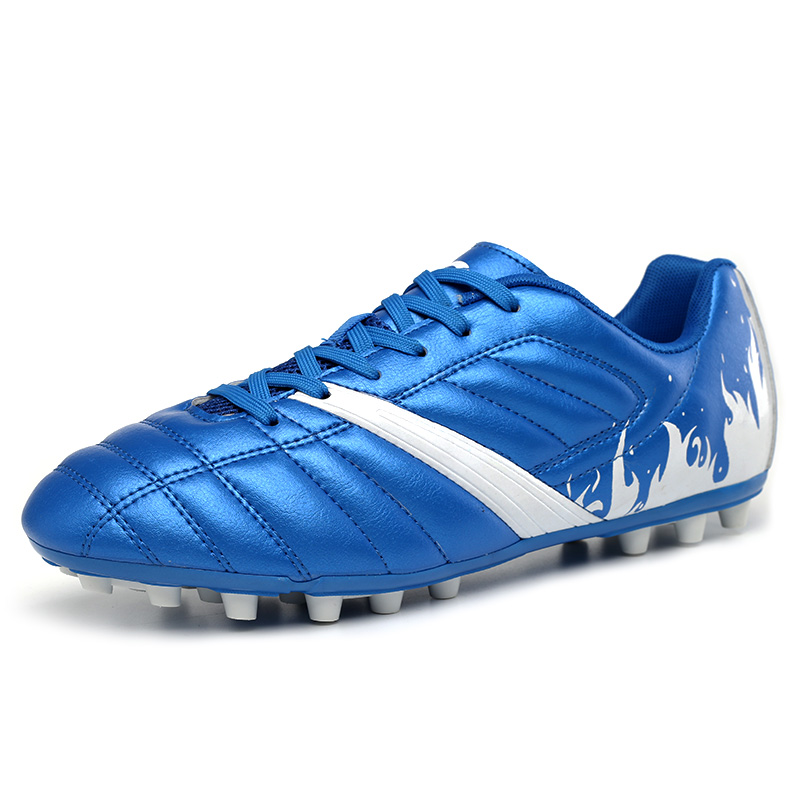 2016 Leather Mens Football Shoes Cleats Kids Athletics Spikes Shoes Leather Soccer Shoes Ag Children Original Football Boots(China (Mainland))