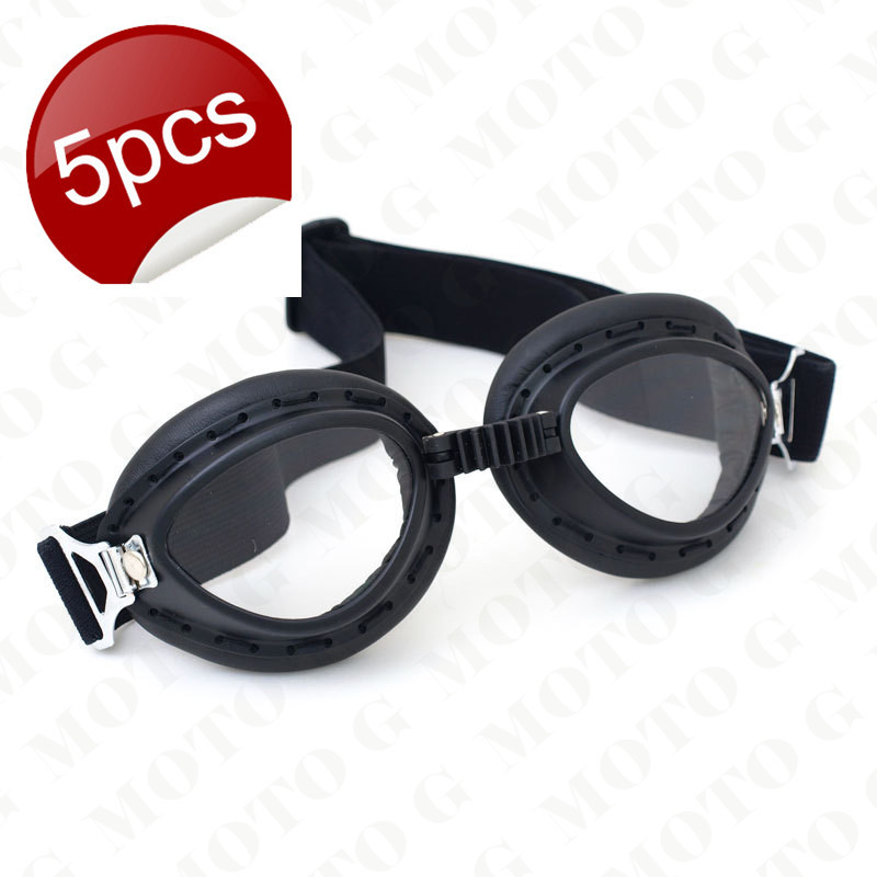 New 2015 Motorcycle Helmet Goggles pilot biker Scooter Leather goggles Retro Vintage Glasses(China (Mainland))