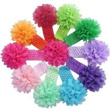 Hottest new 10pcs/lot baby hair accessories girls headband flower baby lace headbands for girls flower hairband girls Wholesale(China (Mainland))