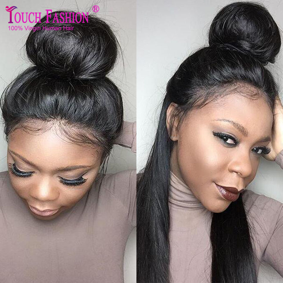 Top Quality High Ponytail Full Lace Wigs Silky Straight Virgin Human Hair Lace Front Wig Affordable Malaysian Full Lace Wigs(China (Mainland))