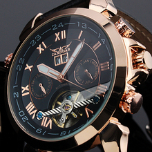 2016 Jaragar Men's Famous Mens Watches Brand Day/Week Tourbillon Auto Mechanical Watches Wristwatch Gift Box Free Ship