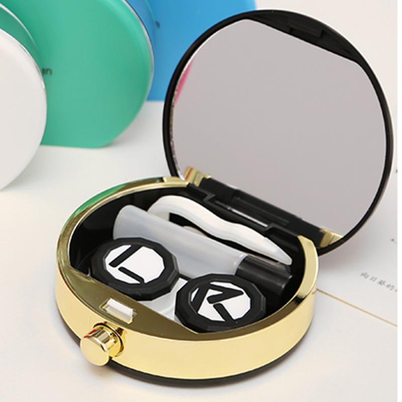 2 Color Christmas Gift Perfume Bottles Contact Lenses box case for Eyewear Accessories Contact lens bag Eyewear Cases(China (Mainland))