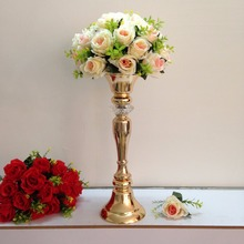 Gold wedding flower vase