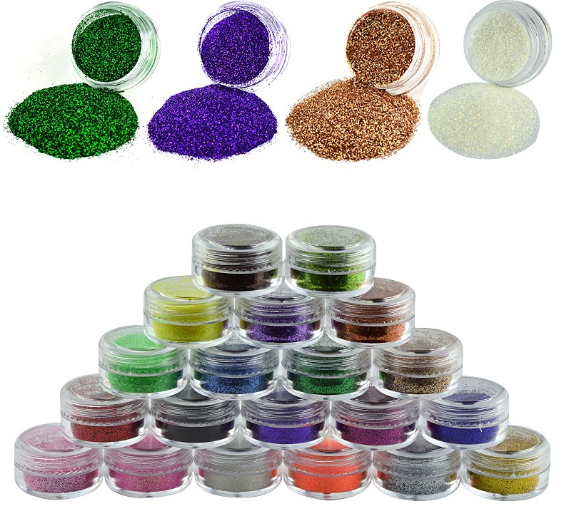 Nail Decoration nail glitter used with uv gel sequins Super bright flash Fine powder For Nail Art Tips M522(China (Mainland))